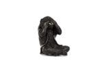 Galerie Tiago Paris Art du Japon Singe assis en bronze Meiji