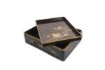 Galerie Tiago Paris Art du Japon Ryoshibako et Suzuribako grues boîte à écrire Meiji