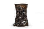 Galerie Tiago Paris Art du Japon Vase tronc bronze Meiji