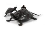 Galerie Tiago Paris Art du Japon Brûle-parfum tortue bronze Meiji