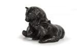 Galerie Tiago Paris Art du Japon Ours en bronze Meiji