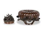 Galerie Tiago Paris Art du Japon Brûle-parfum citrouille bronze Meiji
