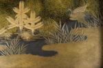 Galerie Tiago Paris Art du Japon Suzuribako Lac et cascade laque Meiji