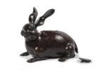 Galerie Tiago Paris Art du Japon Brûle-parfum lièvre bronze Meiji