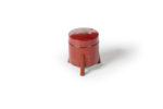 Galerie Tiago Paris Art du Japon Mini hokkai boîte en laque rouge Edo