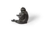 Galerie Tiago Paris Art du Japon Singe en bronze bébé Meiji