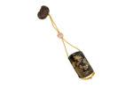 Galerie Tiago Paris Art du Japon Inro laque fleurs boîte à médicaments Meiji
